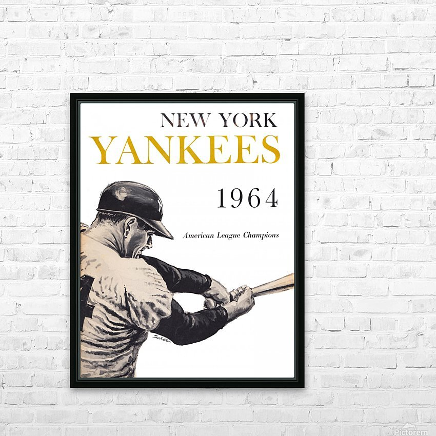 1964 new york yankees art (1) HD Sublimation Metal print with Decorating Float Frame (BOX)