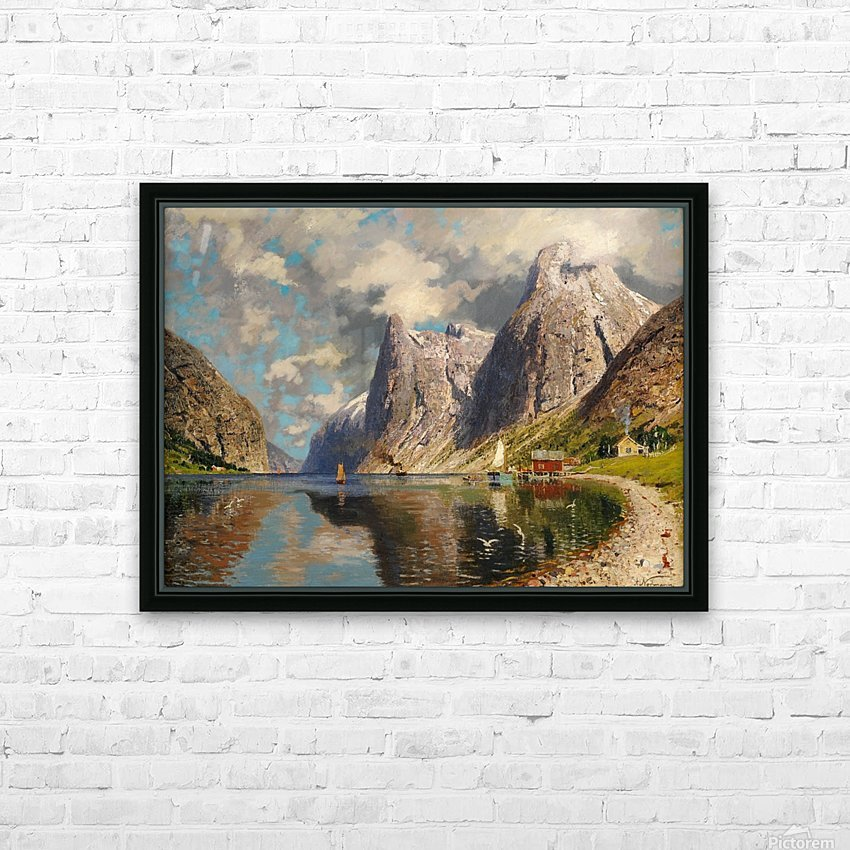 Sommer im Fjord HD Sublimation Metal print with Decorating Float Frame (BOX)