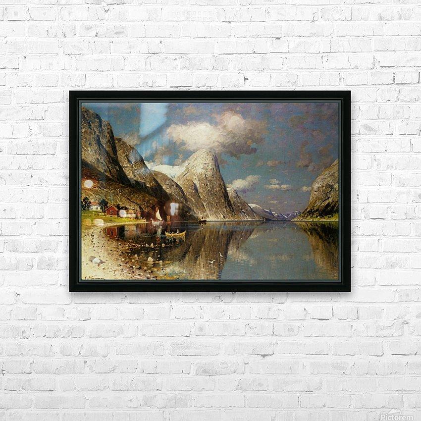 Fjordlandskap HD Sublimation Metal print with Decorating Float Frame (BOX)