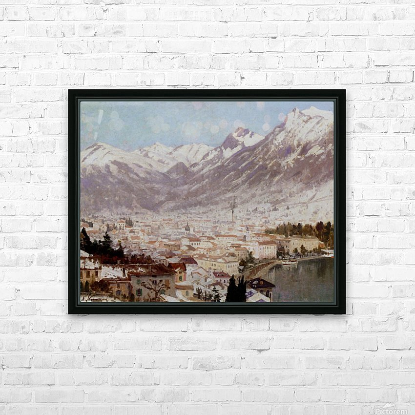 A view of Como HD Sublimation Metal print with Decorating Float Frame (BOX)