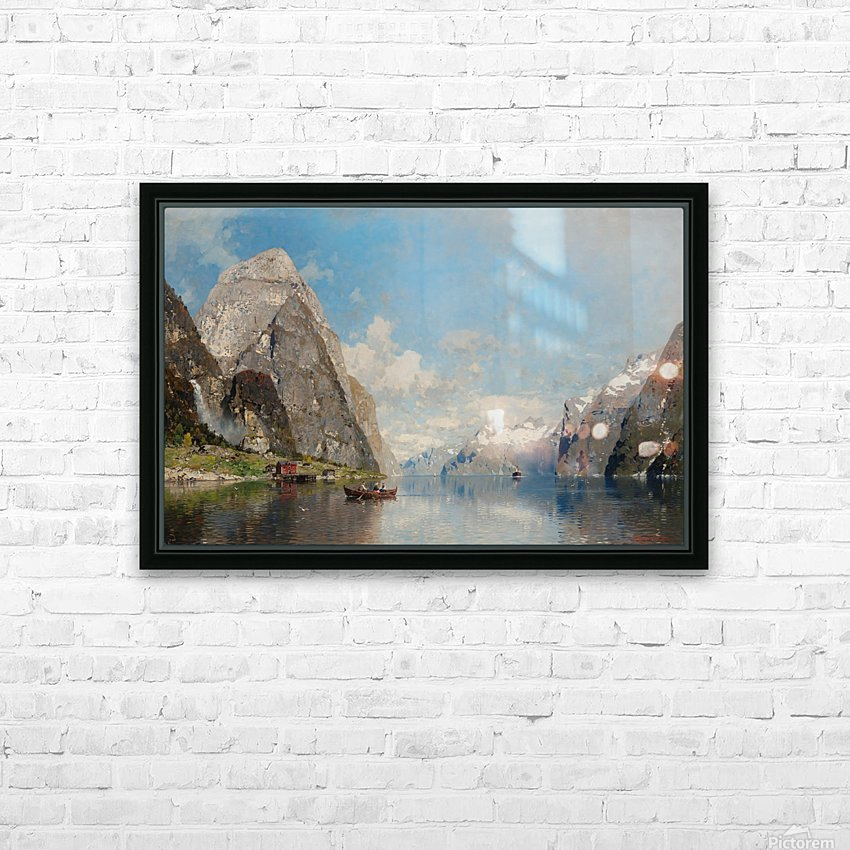 View of a Fjord HD Sublimation Metal print with Decorating Float Frame (BOX)