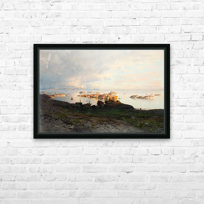 Summer night in Lofoten HD Sublimation Metal print with Decorating Float Frame (BOX)