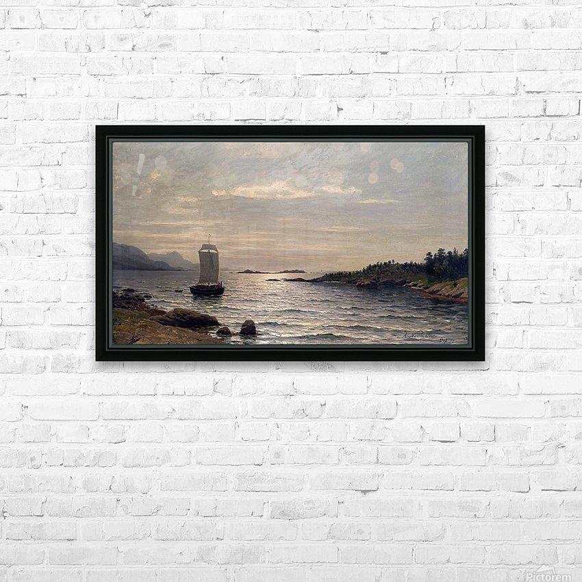 Seilskute i kystlandskap HD Sublimation Metal print with Decorating Float Frame (BOX)