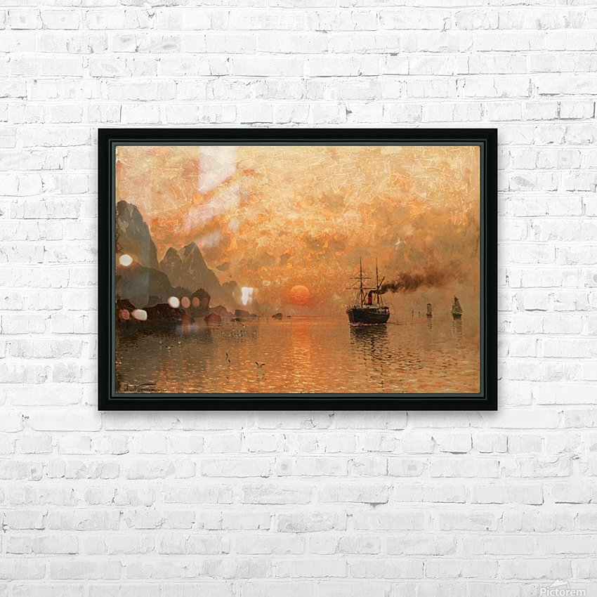 Ships in the Sunset HD Sublimation Metal print with Decorating Float Frame (BOX)