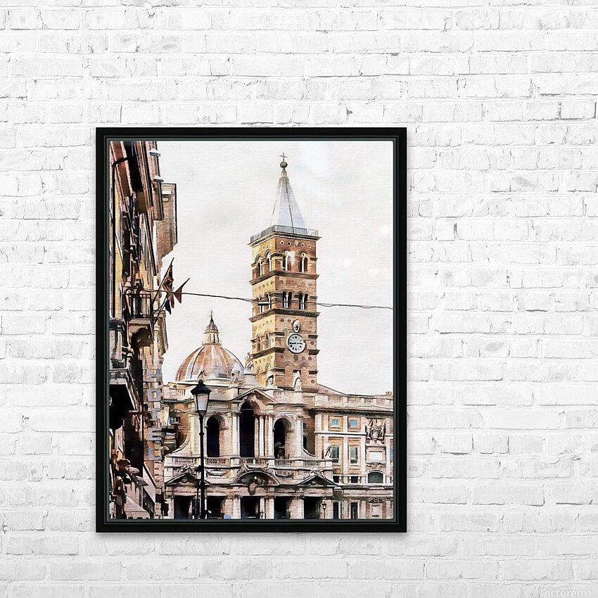 Street View Toward Basilica di Santa Maria Maggiore Rome HD Sublimation Metal print with Decorating Float Frame (BOX)
