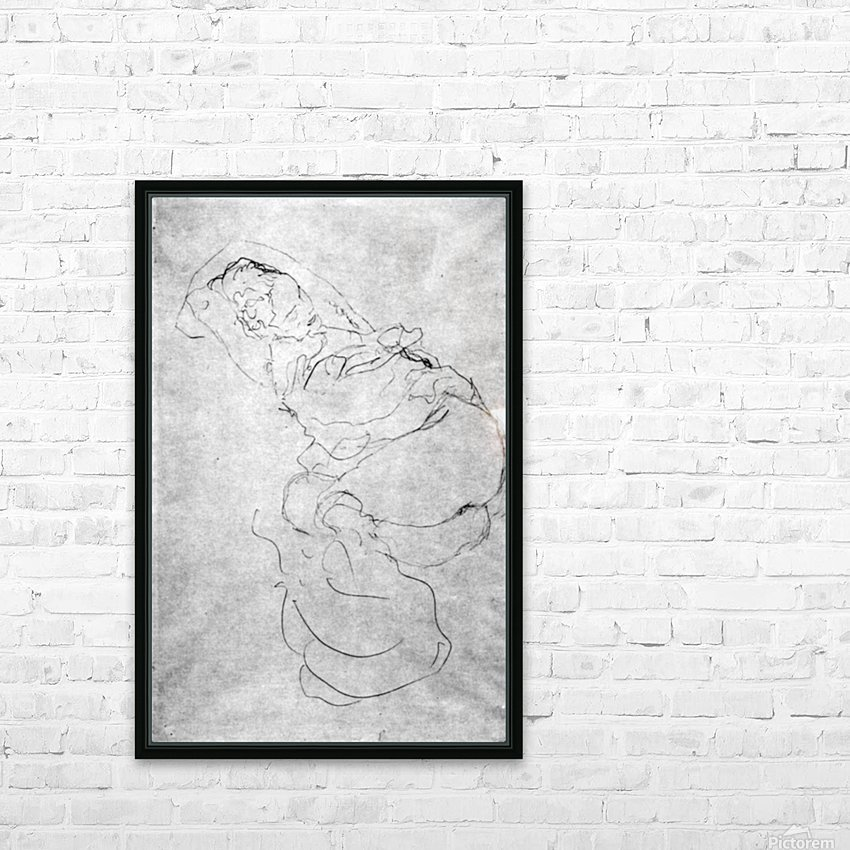 Liegender female over the head with entangled arms by Klimt HD Sublimation Metal print with Decorating Float Frame (BOX)