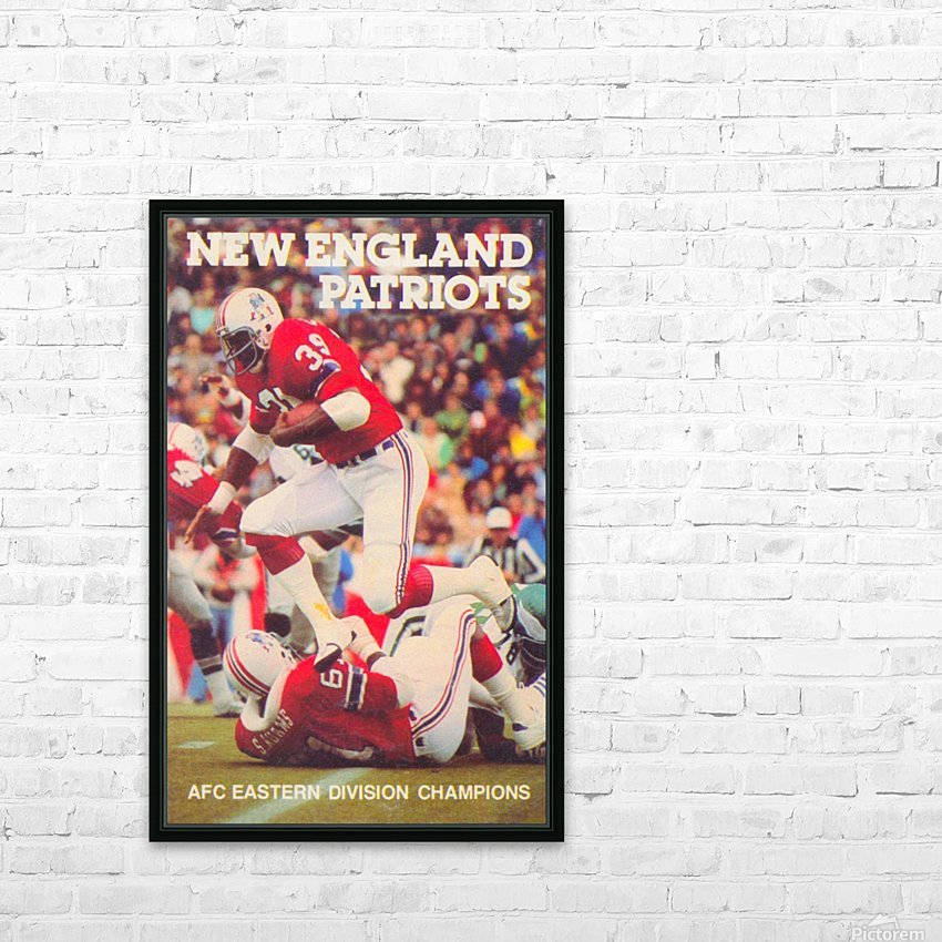 1979 New England Patriots Retro Football Poster HD Sublimation Metal print with Decorating Float Frame (BOX)