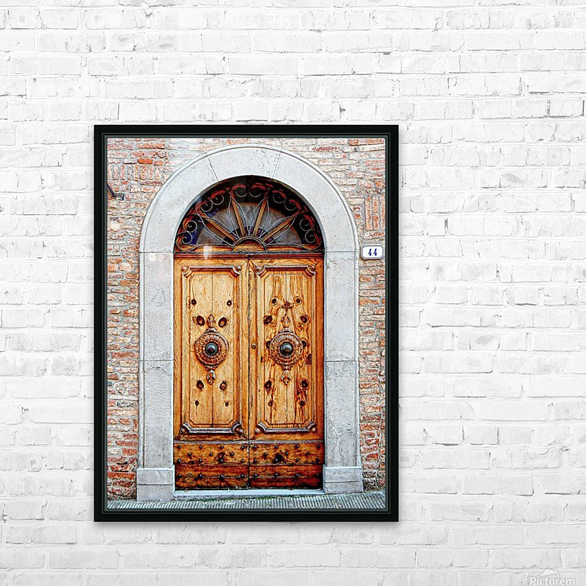 Ornate Wooden Door Citta della Pieve 1 HD Sublimation Metal print with Decorating Float Frame (BOX)