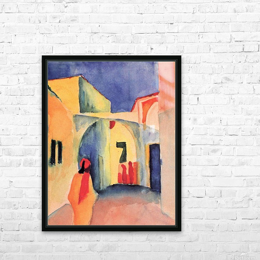 Look in a lane by Macke HD Sublimation Metal print with Decorating Float Frame (BOX)