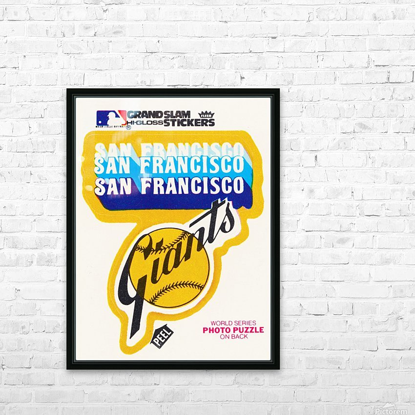 1979 fleer hi gloss san francisco giants sticker poster HD Sublimation Metal print with Decorating Float Frame (BOX)