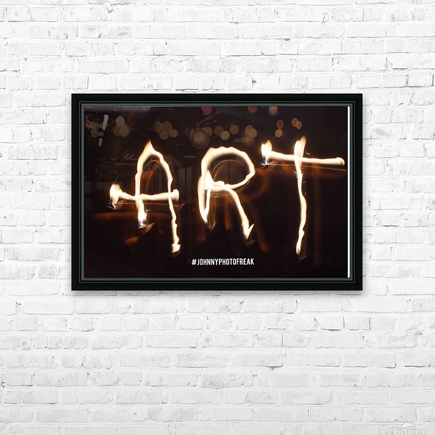 Fire Art HD Sublimation Metal print with Decorating Float Frame (BOX)