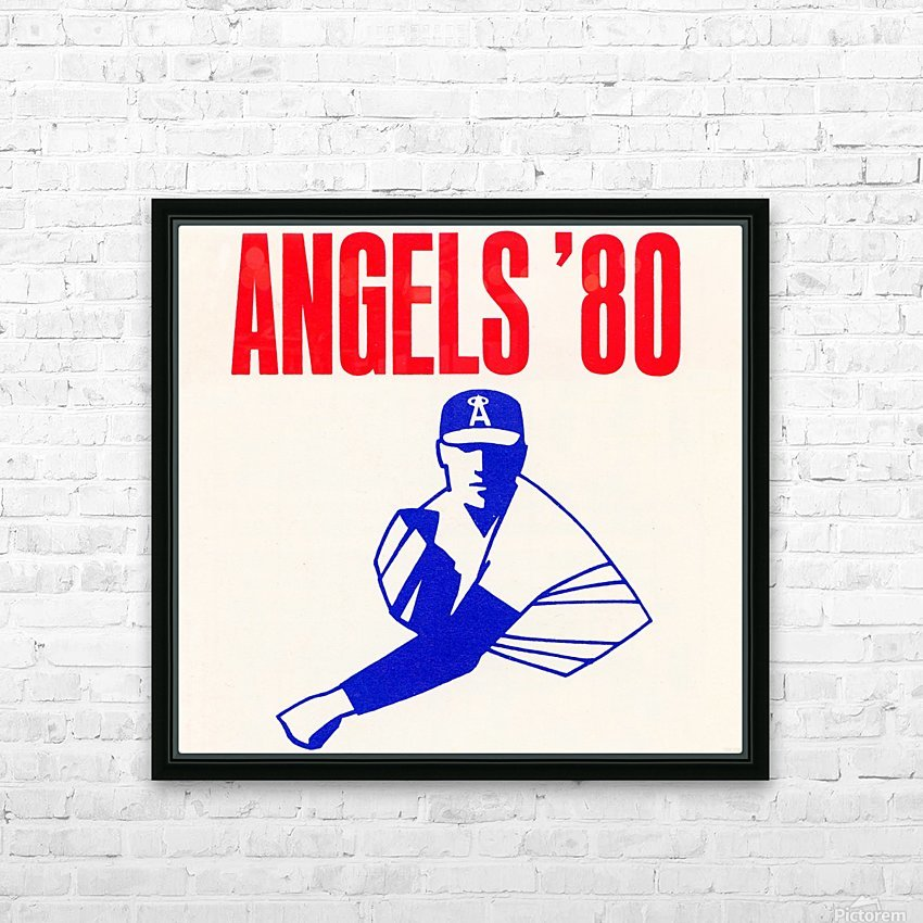 1980 california angels baseball pitcher art HD Sublimation Metal print with Decorating Float Frame (BOX)