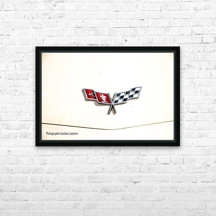 Corvette logo antique car  HD Sublimation Metal print with Decorating Float Frame (BOX)