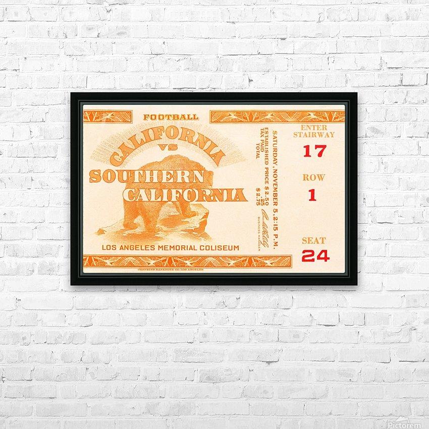1938 cal bears usc trojans football ticket stub art la coliseum HD Sublimation Metal print with Decorating Float Frame (BOX)
