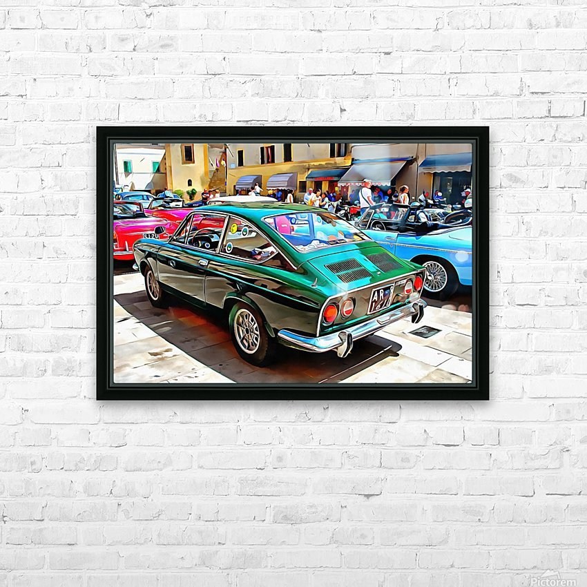 Fiat 850 Sport Coupe HD Sublimation Metal print with Decorating Float Frame (BOX)