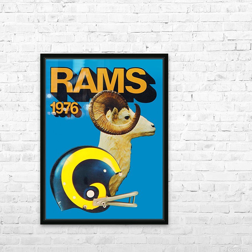 1976 rams vintage nfl poster HD Sublimation Metal print with Decorating Float Frame (BOX)
