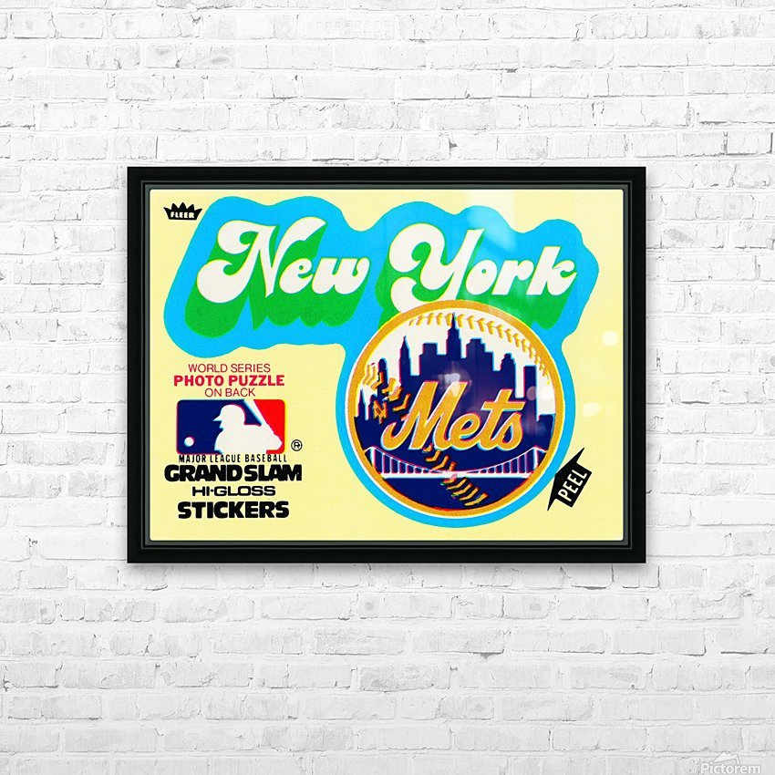 1979 fleer hi gloss sticker new york mets wall art HD Sublimation Metal print with Decorating Float Frame (BOX)