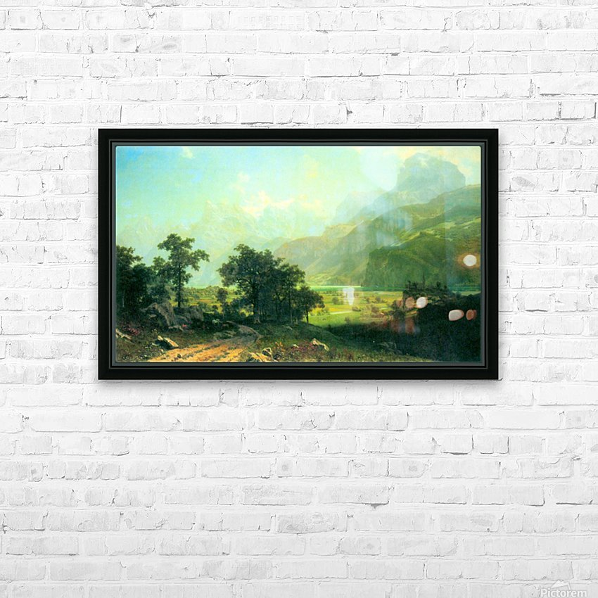 Lucerne Switzerland by Bierstadt HD Sublimation Metal print with Decorating Float Frame (BOX)