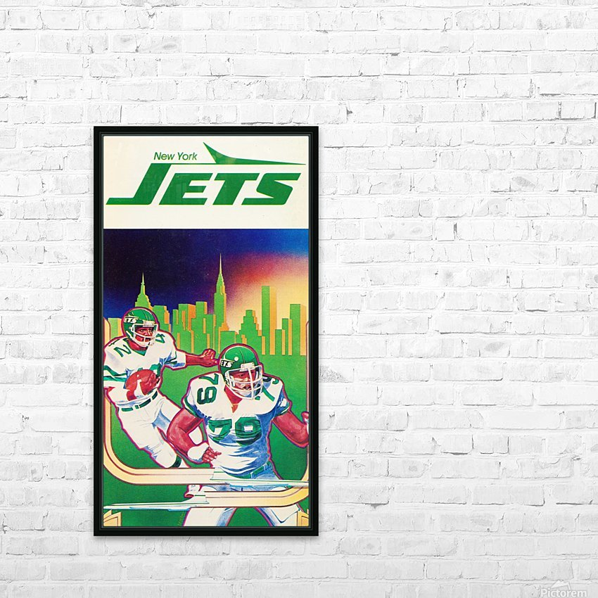 1981 new york jets football art HD Sublimation Metal print with Decorating Float Frame (BOX)