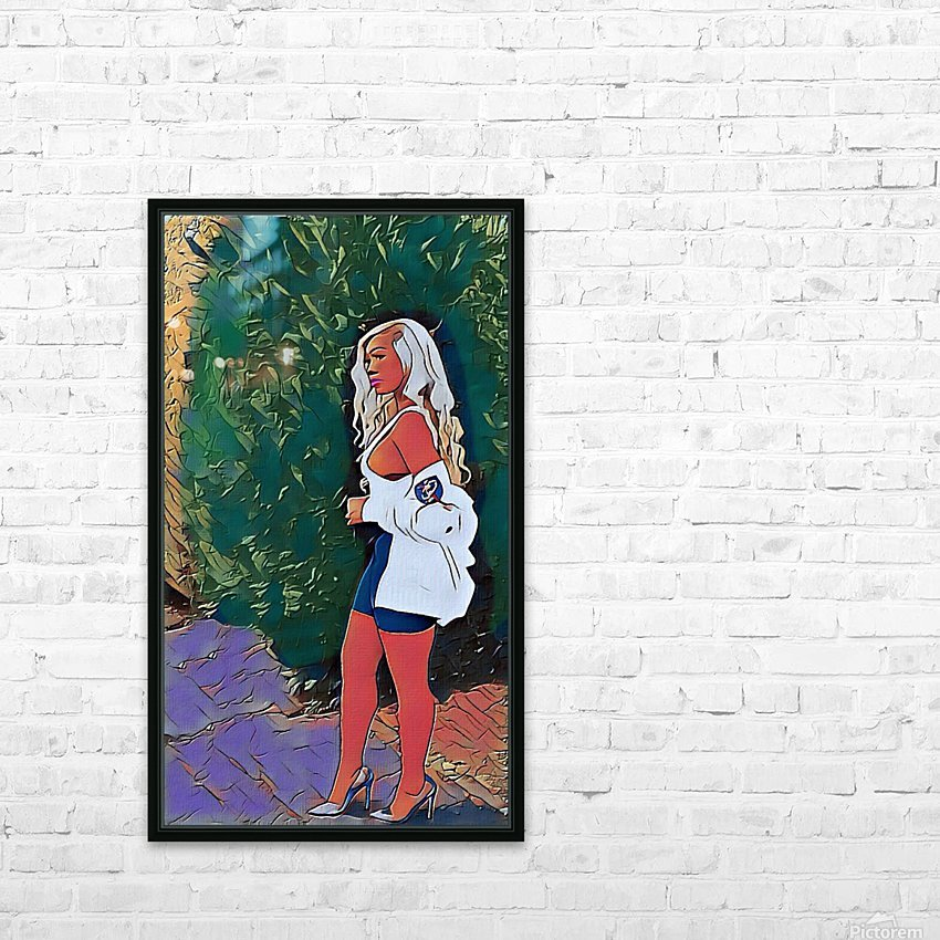 Designer brand HD Sublimation Metal print with Decorating Float Frame (BOX)