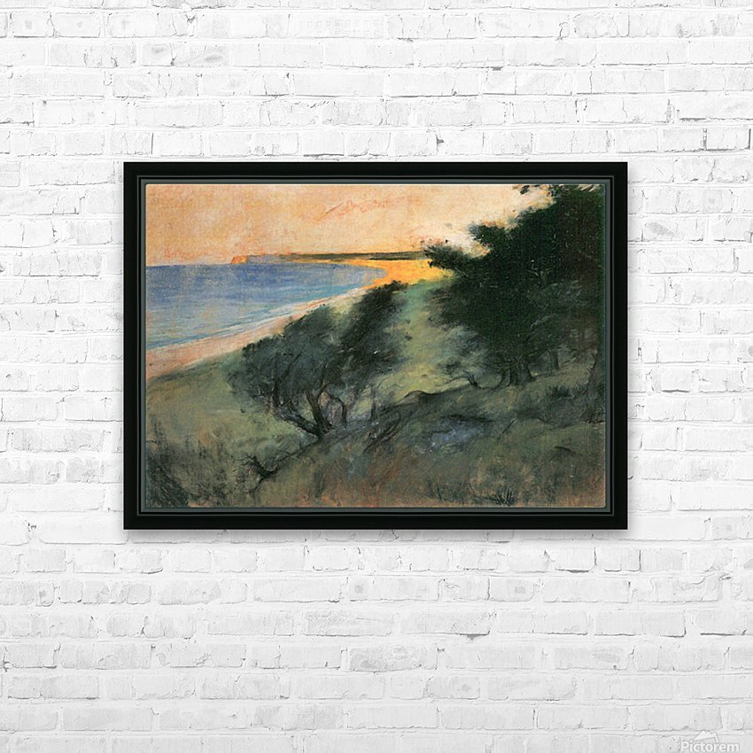 Coast of Rugen by Lesser Ury HD Sublimation Metal print with Decorating Float Frame (BOX)