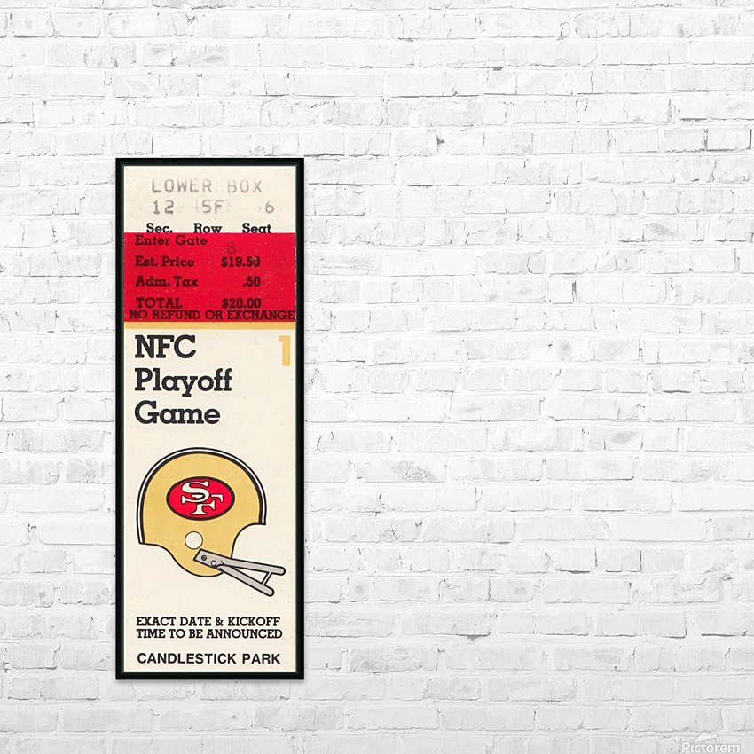 1984 san francisco 49ers nfl football ticket art nfc playoff game HD Sublimation Metal print with Decorating Float Frame (BOX)