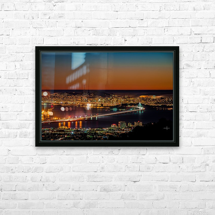 City to City - Berkeley to San Francisco HD Sublimation Metal print with Decorating Float Frame (BOX)