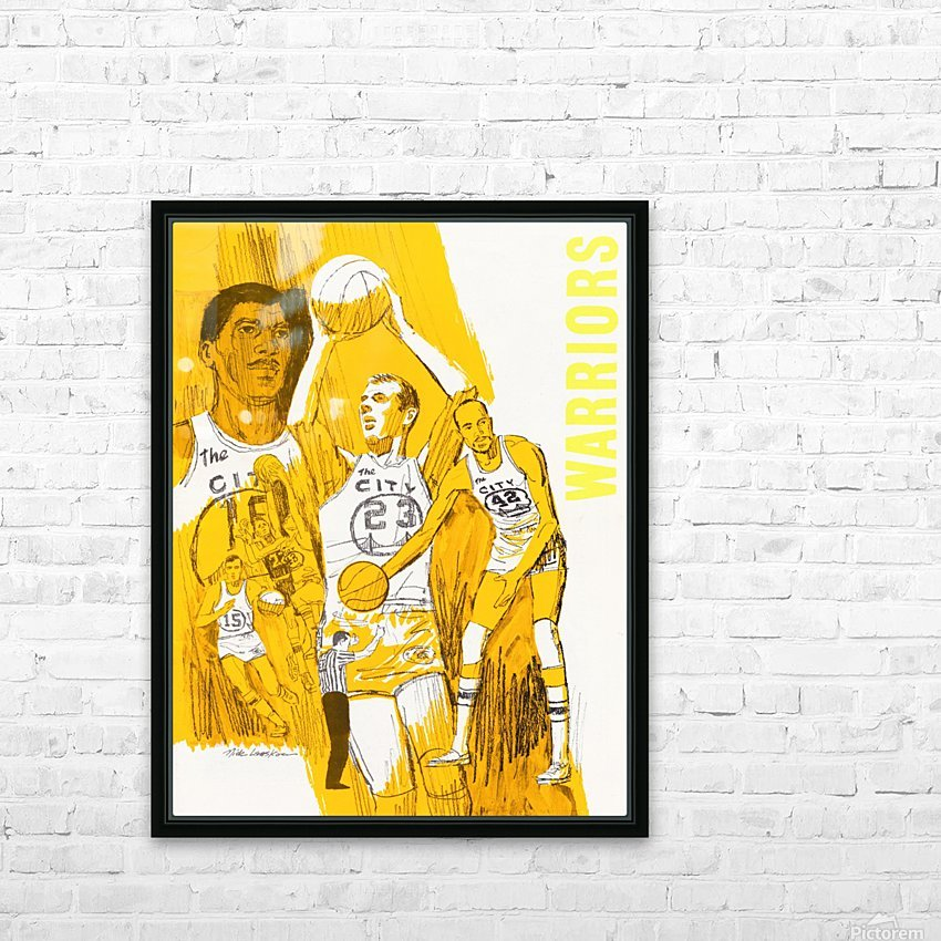 1969 San Francisco Warriors  HD Sublimation Metal print with Decorating Float Frame (BOX)