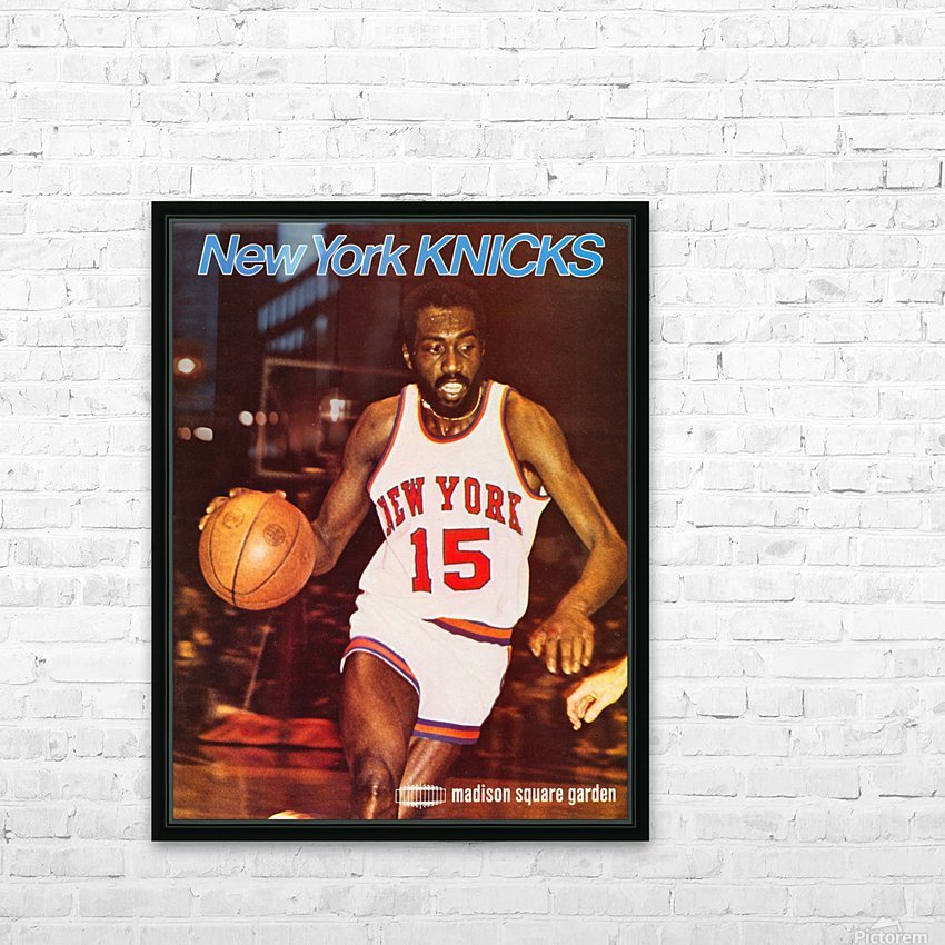 1977 new york knicks basketball poster HD Sublimation Metal print with Decorating Float Frame (BOX)