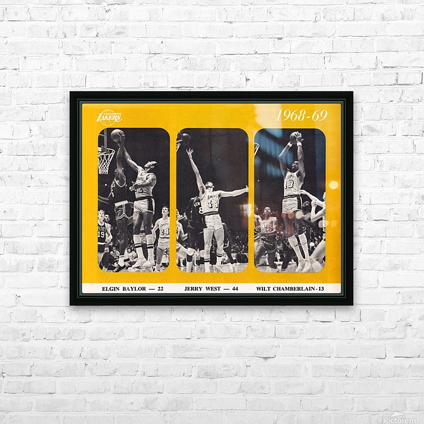 1968 los angeles lakers poster HD Sublimation Metal print with Decorating Float Frame (BOX)