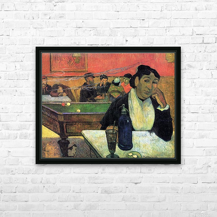 Madame Ginoux in Cafe by Gauguin HD Sublimation Metal print with Decorating Float Frame (BOX)