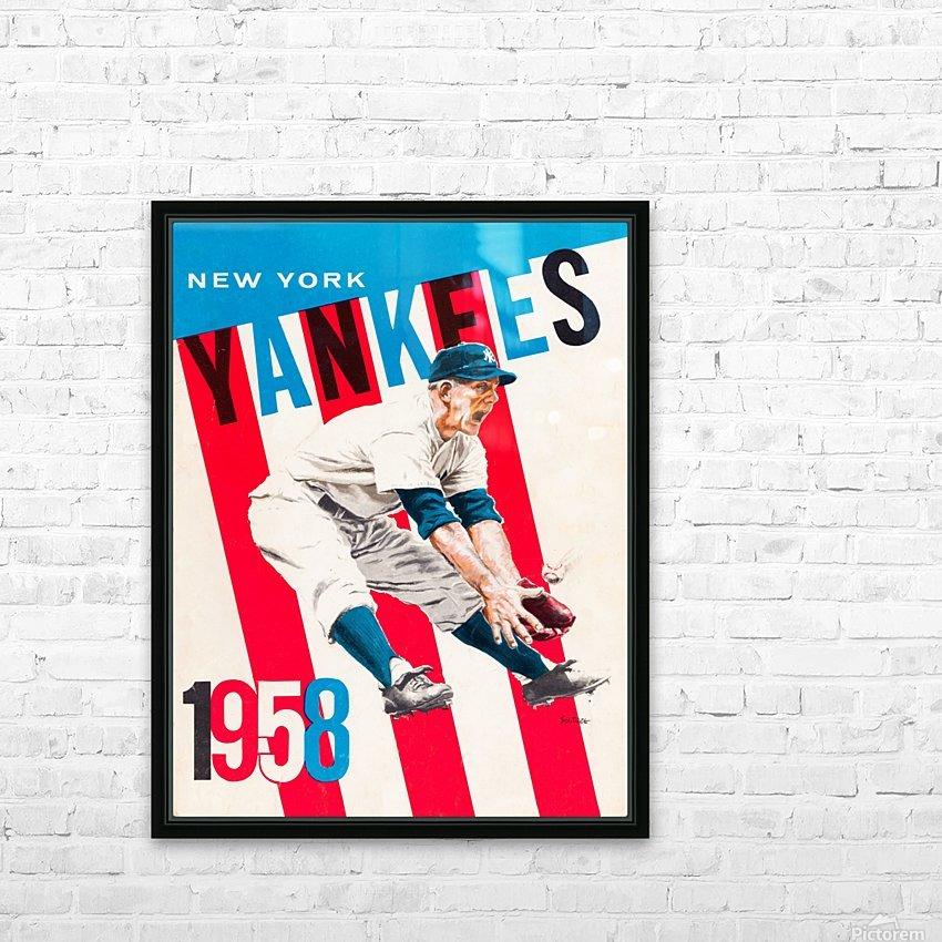 1958 new york yankees vintage baseball art HD Sublimation Metal print with Decorating Float Frame (BOX)