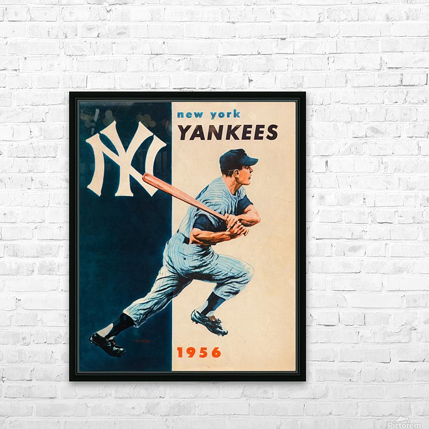 1956 new york yankees vintage baseball art HD Sublimation Metal print with Decorating Float Frame (BOX)