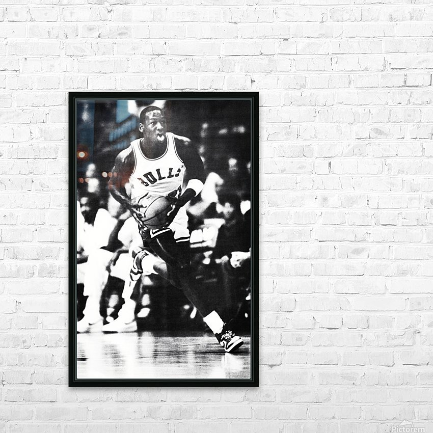1985 Michael Jordan Black and White Poster HD Sublimation Metal print with Decorating Float Frame (BOX)