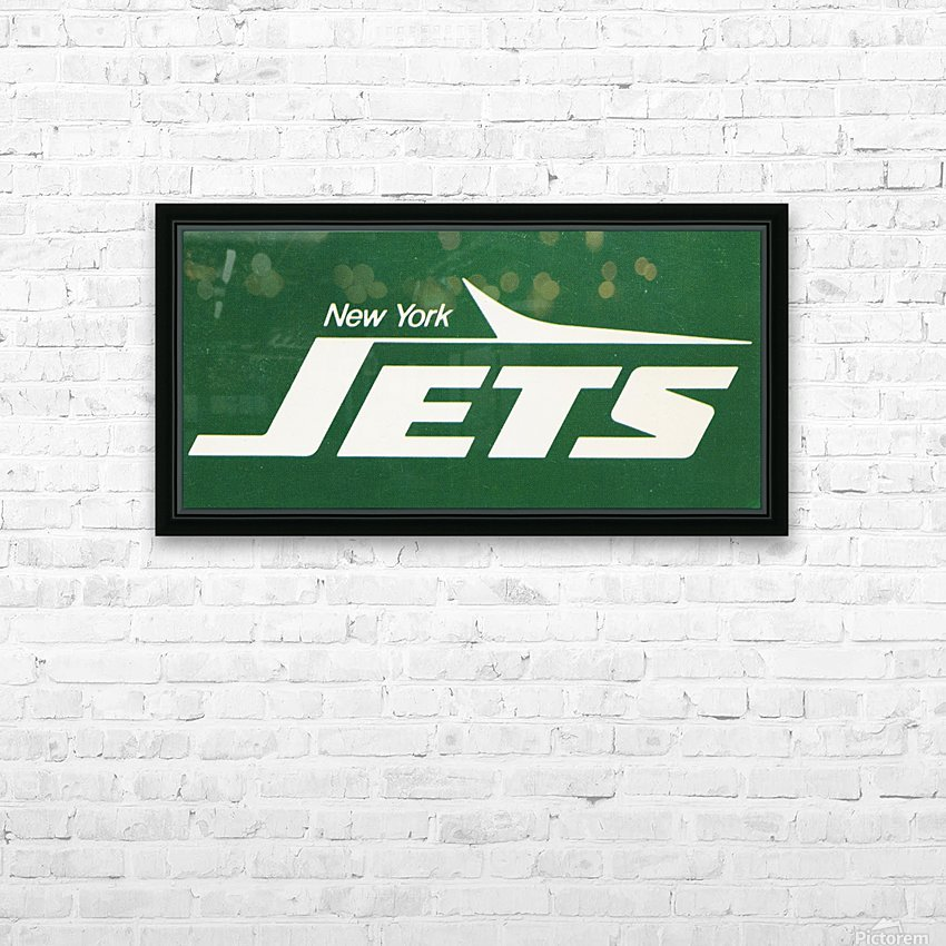 1981 new york jets reproduction artwork HD Sublimation Metal print with Decorating Float Frame (BOX)
