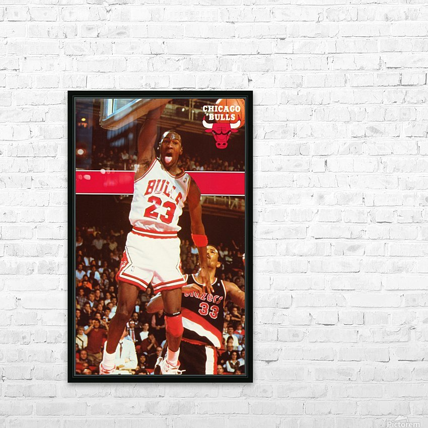 1987 michael jordan chicago stadium poster HD Sublimation Metal print with Decorating Float Frame (BOX)