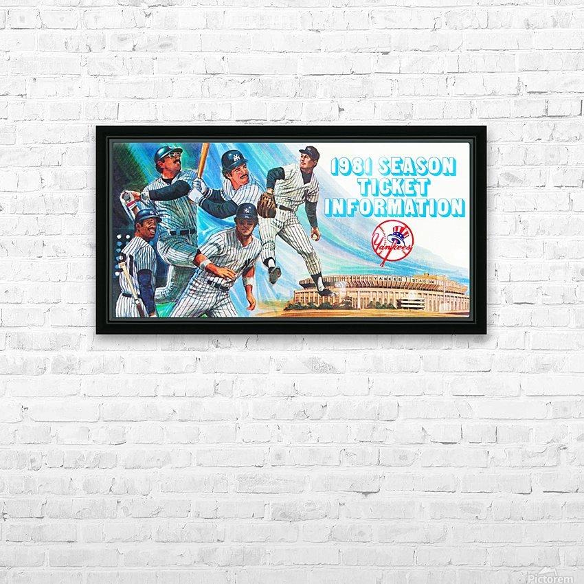 1981 new york yankees baseball season ticket information art HD Sublimation Metal print with Decorating Float Frame (BOX)