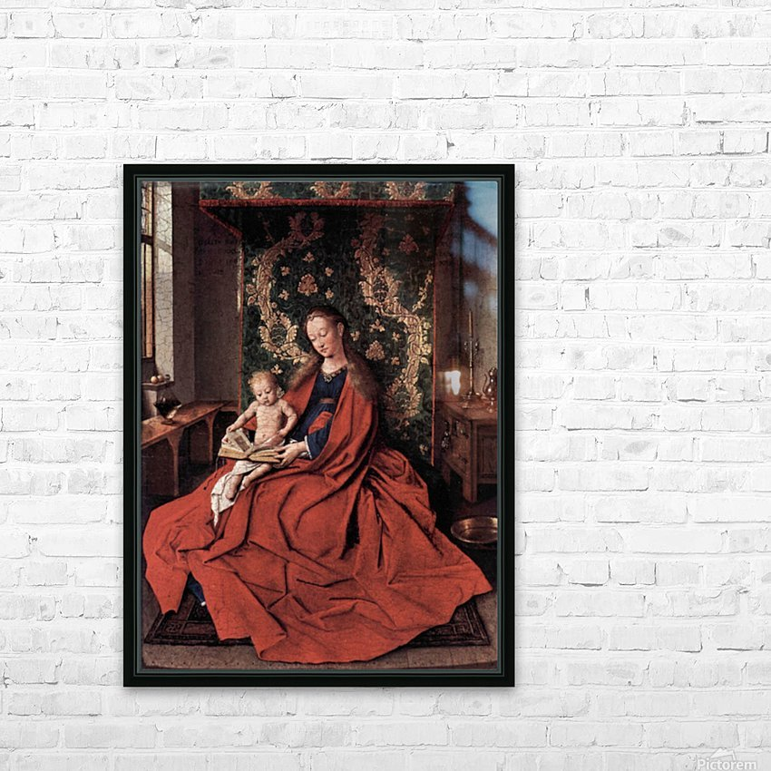 Madonna and child reading by Jan Van Eyck HD Sublimation Metal print with Decorating Float Frame (BOX)