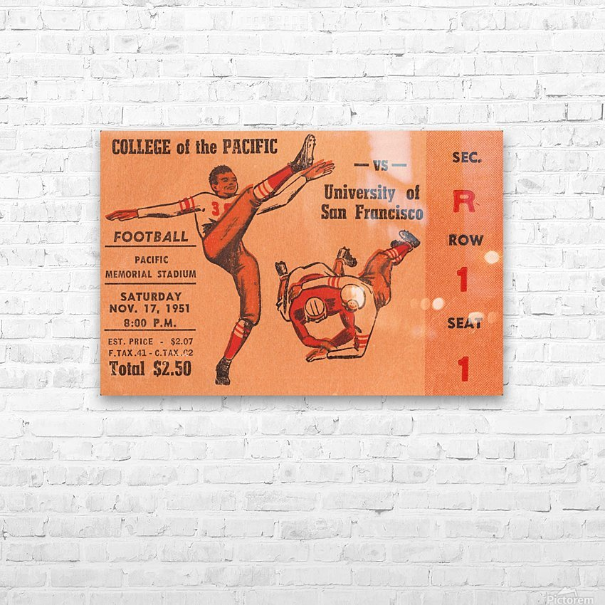 1951 college of the pacific university of san francisco stockton california HD Sublimation Metal print with Decorating Float Frame (BOX)