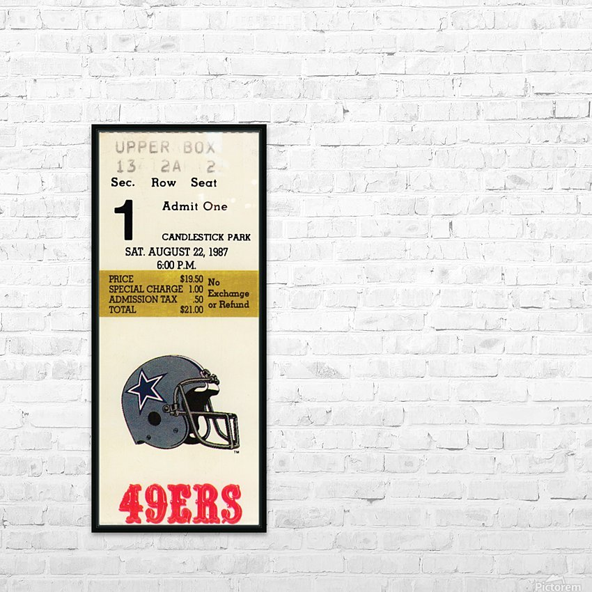 1987_National Football League_San Francisco 49ers vs. Dallas Cowboys_Candlestick Park HD Sublimation Metal print with Decorating Float Frame (BOX)