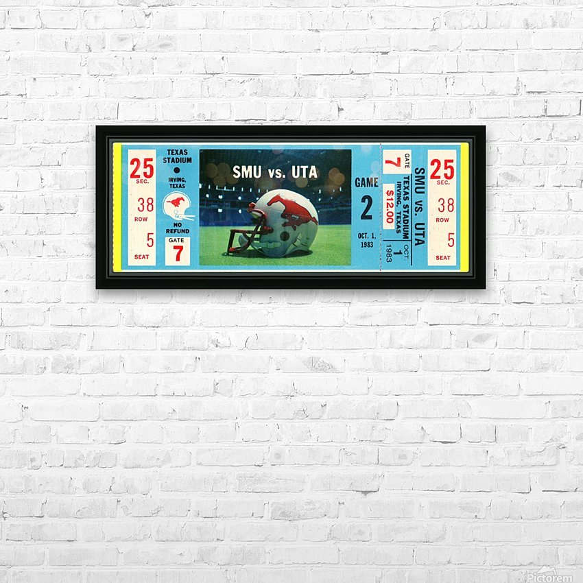 1983_College_Football_SMU vs. UTA_Texas Stadium_Dallas HD Sublimation Metal print with Decorating Float Frame (BOX)