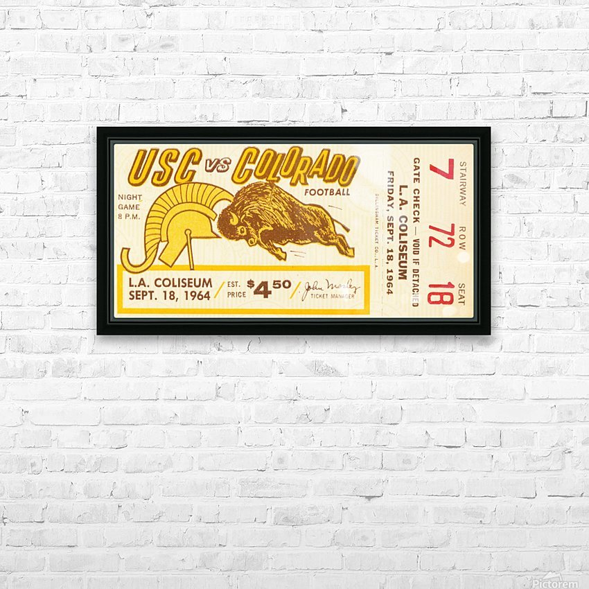 1964 USC vs. Colorado HD Sublimation Metal print with Decorating Float Frame (BOX)