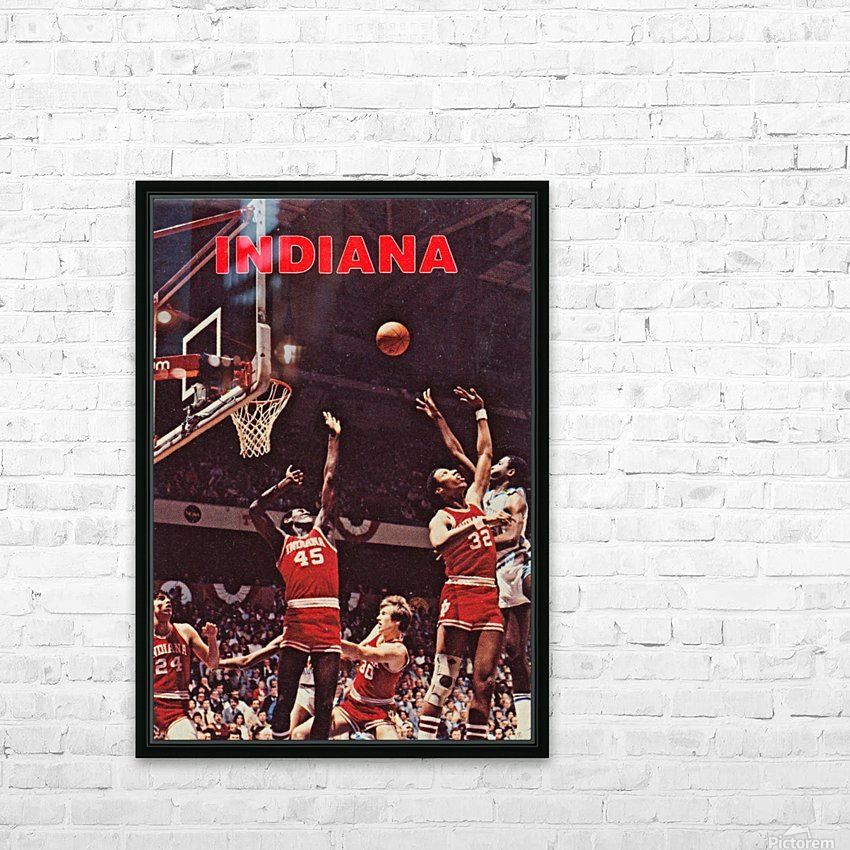 1981 indiana hoosiers basketball poster HD Sublimation Metal print with Decorating Float Frame (BOX)