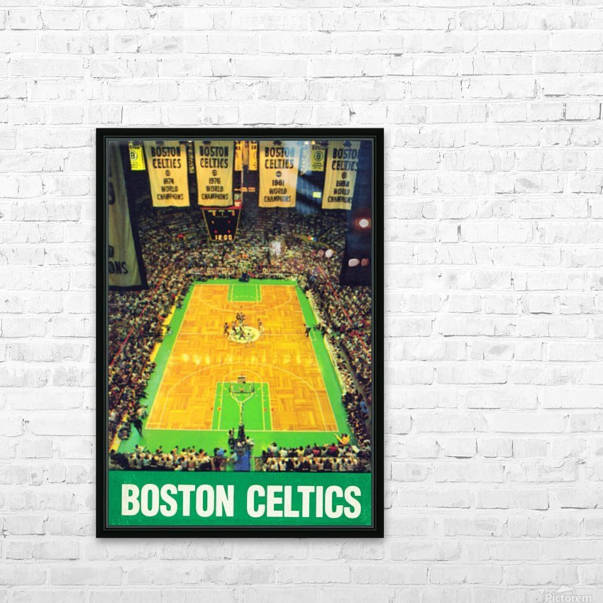 1988 boston celtics boston garden poster HD Sublimation Metal print with Decorating Float Frame (BOX)