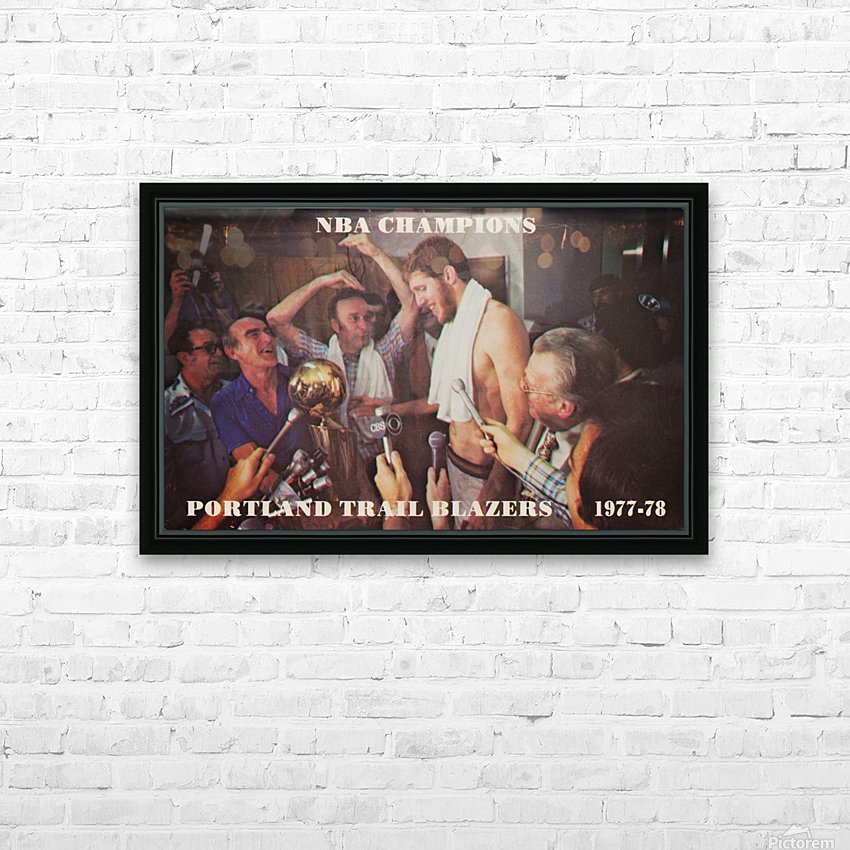1977 portland trailblazers nba champions bill walton interview HD Sublimation Metal print with Decorating Float Frame (BOX)