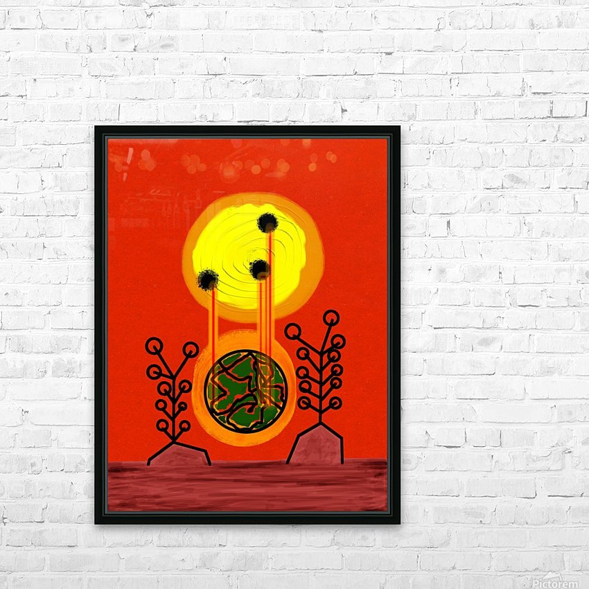Earth is Burning  HD Sublimation Metal print with Decorating Float Frame (BOX)