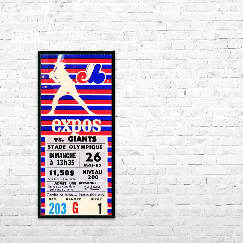 1985 Montreal Expos vs. San Francisco Giants HD Sublimation Metal print with Decorating Float Frame (BOX)