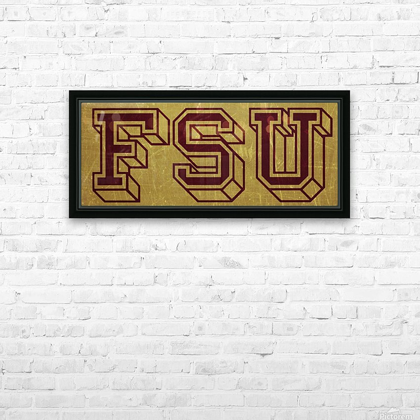 1950s Florida State University Art FSU HD Sublimation Metal print with Decorating Float Frame (BOX)