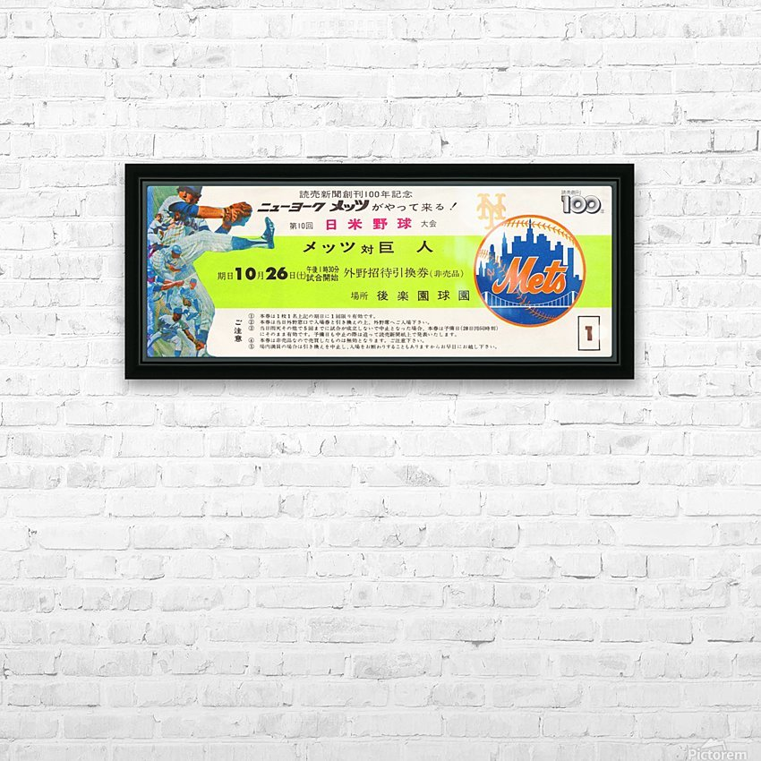 1974 new york mets tour of japan ticket art HD Sublimation Metal print with Decorating Float Frame (BOX)