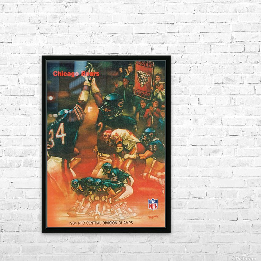 1984 chicago bears nfc central division champs art HD Sublimation Metal print with Decorating Float Frame (BOX)